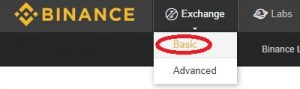 Binance Exchange Basic